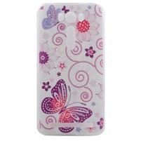 Softy gélový obal pre mobil Asus Zenfone 2 Laser - motýľek