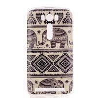 Softy gélový obal pre mobil Asus Zenfone 2 Laser - sloni
