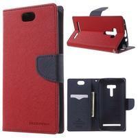 Mr. Goos peňaženkové puzdro pre Asus Zenfone Selfie ZD551KL - červené