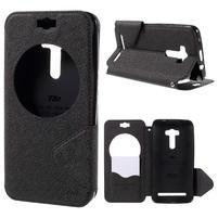 Peňaženkové puzdro s okienkom pre Asus Zenfone Selfie ZD551KL - čierne