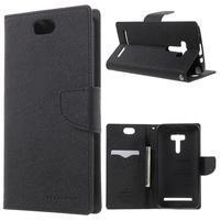 Mr. Goos peňaženkové puzdro pre Asus Zenfone Selfie ZD551KL - čierné
