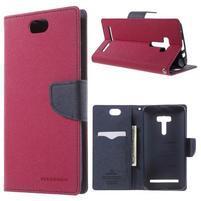 Mr. Goos peňaženkové puzdro pre Asus Zenfone Selfie ZD551KL - rose