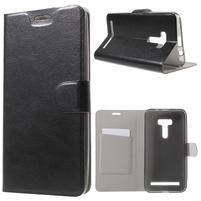 Horse peňaženkové puzdro na Asus Zenfone Selfie ZD551KL - čierné