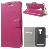 Horse peňaženkové puzdro na Asus Zenfone Selfie ZD551KL - rose