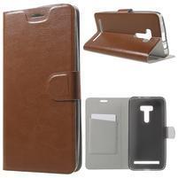 Horse peňaženkové puzdro pre Asus Zenfone Selfie ZD551KL - hnedé