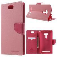Mr. Goos peňaženkové puzdro pre Asus Zenfone Selfie ZD551KL - ružové