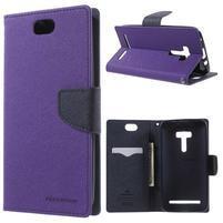 Mr. Goos peňaženkové puzdro na Asus Zenfone Selfie ZD551KL - fialové