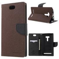 Mr. Goos peňaženkové puzdro pre Asus Zenfone Selfie ZD551KL - hnedé