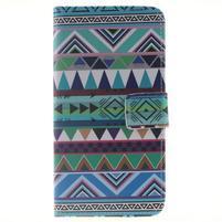 Peňaženkové puzdro pro mobil Honor 5X - geo tvary