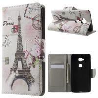 Emotive PU kožené puzdro pre mobil Honor 5X - Eiffelova veža