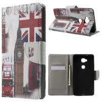 Emotive PU kožené puzdro pre mobil Honor 5X - Velká Británie