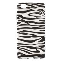 Gelový obal Style na Huawei Ascend P8 Lite - zebra