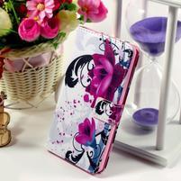 Peněženkové pouzdro Style pro Huawei Ascend P8 Lite - květy