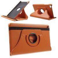 Otočné polohovateľné puzdro na Huawei MediaPad M2 - oranžové