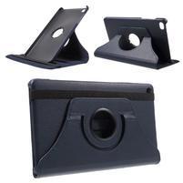 Otočné polohovatelné pouzdro na Huawei MediaPad M2 - tmavěmodré