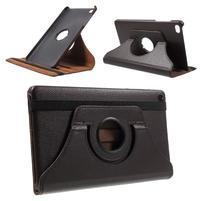 Otočné polohovateľné puzdro na Huawei MediaPad M2 - tmavohnedé