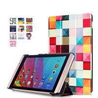 Trojpolohové puzdro na tablet Huawei MediaPad M2 8.0 - farebné kocky