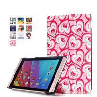 Třípolohové pouzdro na tablet Huawei MediaPad M2 8.0 - srdíčka