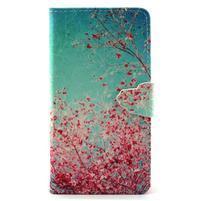 Emotive pouzdro na mobil Huawei P8 Lite - kvetoucí švestka