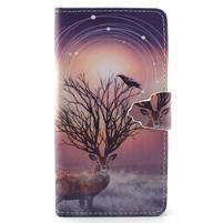 Emotive pouzdro na mobil Huawei P8 Lite - mytický jelen