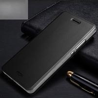 Vintage PU kožené pouzdro na Huawei P8 Lite - černé