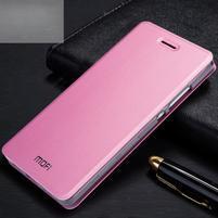 Vintage PU kožené pouzdro na Huawei P8 Lite - růžové