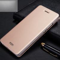 Vintage PU kožené pouzdro na Huawei P8 Lite - zlaté