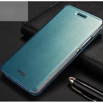 Vintage PU kožené pouzdro na Huawei P8 Lite - modré