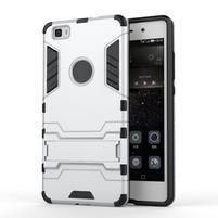 Odolný ochranný kryt na Huawei P8 Lite - stříbrný