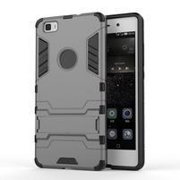 Odolný ochranný kryt na Huawei P8 Lite - šedý