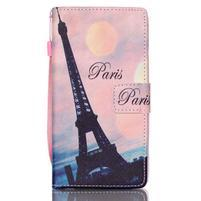 Picture PU kožené puzdro na Huawei P8 Lite - Eiffelova veža