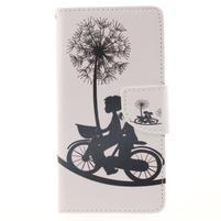 Leathy PU kožené pouzdro na Huawei P8 Lite - láska na kole