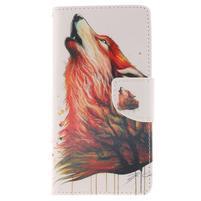 Leathy PU kožené pouzdro na Huawei P8 Lite - magický vlk