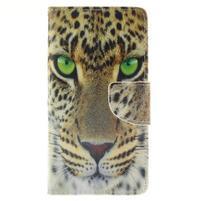 Leathy PU kožené pouzdro na Huawei P8 Lite - gepard