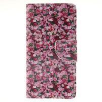 Leathy PU kožené pouzdro na Huawei P8 Lite - růže