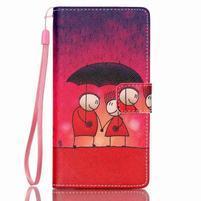 Picture PU kožené puzdro na Huawei P8 Lite - láska v daždi