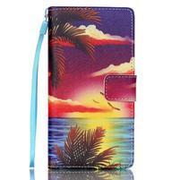 Picture PU kožené pouzdro na Huawei P8 Lite - plážová scenérie