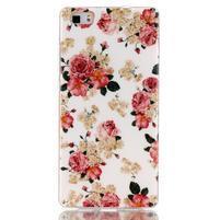 Softy gelový obal na mobil Huawei P8 Lite - květiny