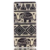 Softy gelový obal na mobil Huawei P8 Lite - slon