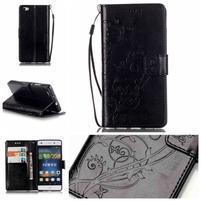 Magicfly PU kožené puzdro na Huawei P8 Lite - čierne