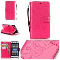Magicfly PU kožené pouzdro na Huawei P8 Lite - rose