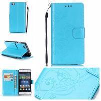 Magicfly PU kožené pouzdro na Huawei P8 Lite - modré