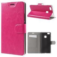 Horse PU kožené puzdro na mobil Huawei P9 Lite - rose