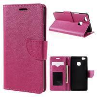 Easy peněženkové pouzdro na mobil Huawei P9 Lite - rose