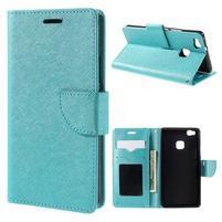 Easy peňaženkové puzdro na mobil Huawei P9 Lite - modré
