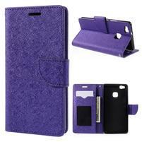 Easy peňaženkové puzdro na mobil Huawei P9 Lite - fialové