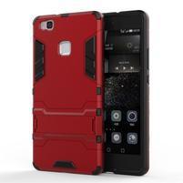 Odolný obal na mobil Huawei P9 Lite - červený