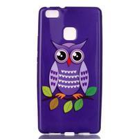 Emotive gelový obal na mobil Huawei P9 Lite - fialová sova