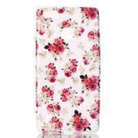 Emotive gelový obal na mobil Huawei P9 Lite - květiny