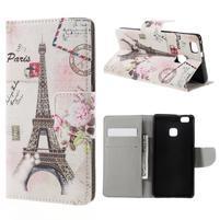 Richi PU kožené puzdro na Huawei P9 Lite - Eiffelova veža